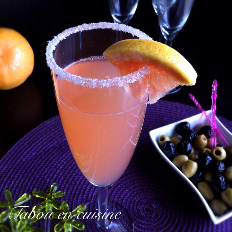 Cocktail pamplemousse sans alcool pour octobre rose