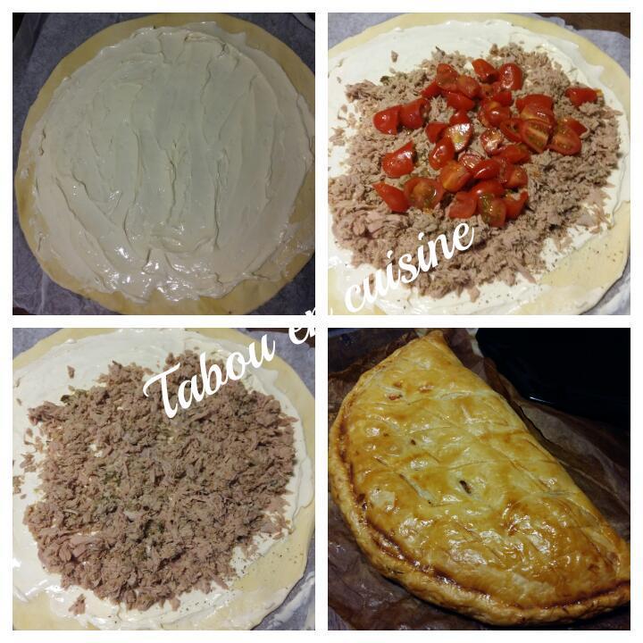 feuiletée au thon et fromage frais